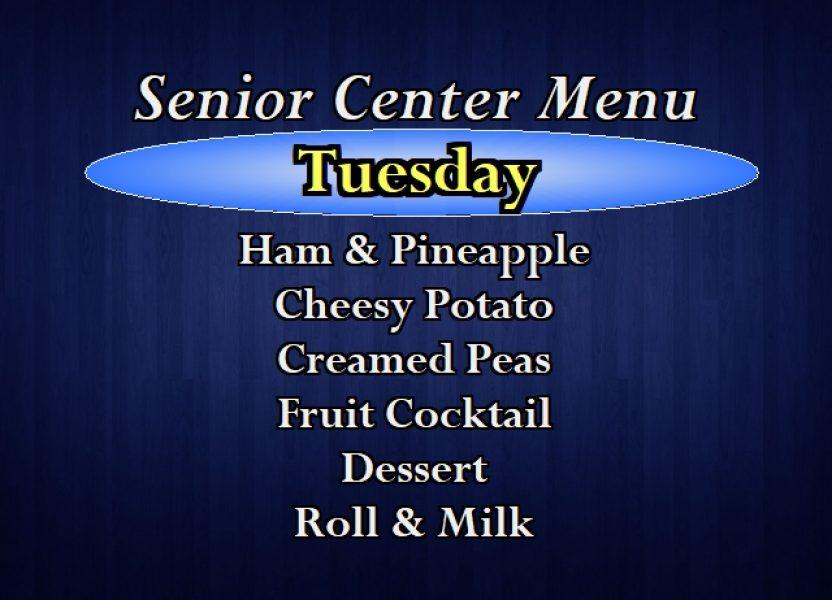 Senior Center Menu