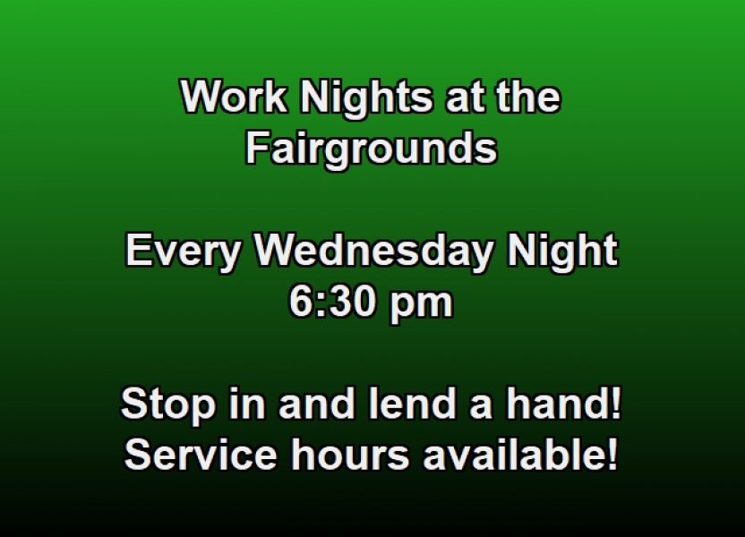 Work Nights at the Fairgrounds