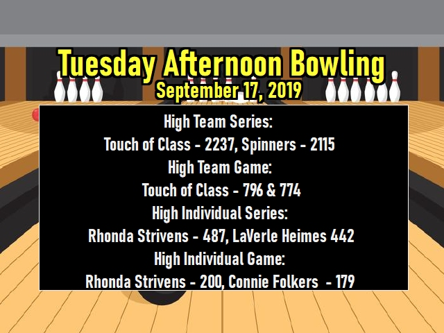 Tuesday Afternoon Bowling