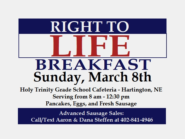 Right To Life Breakfast