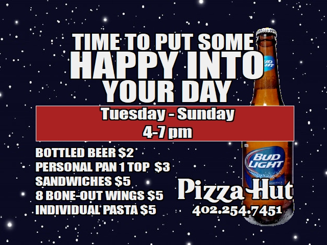 Pizza Hut Happy Hours