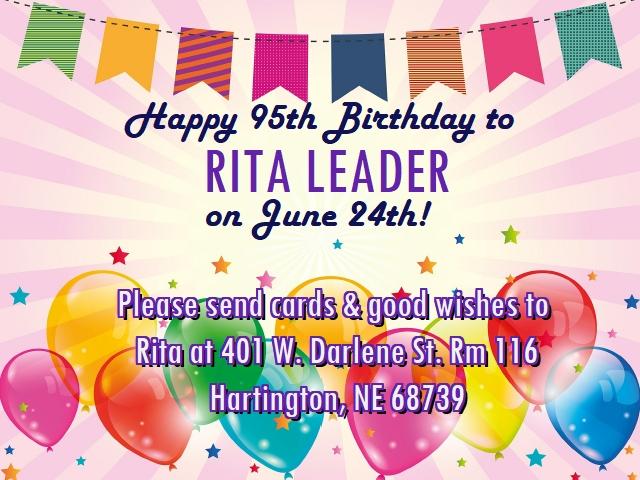 Rita Leader Birthday!